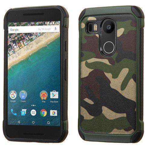 MYBAT Dual Armor Hybrid Nexus 5X Case - Camouflage Green