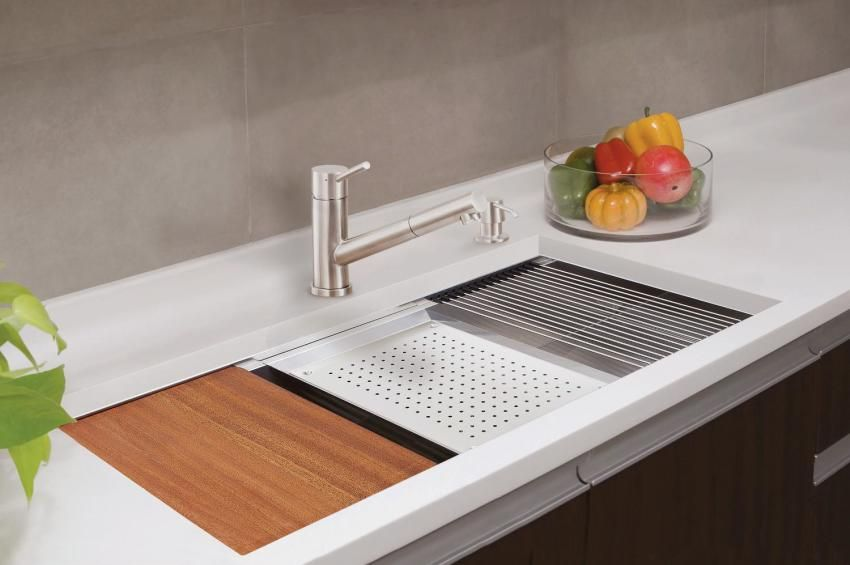 Awesome Sink With A Sliding Prep Station Built In Prep Sink