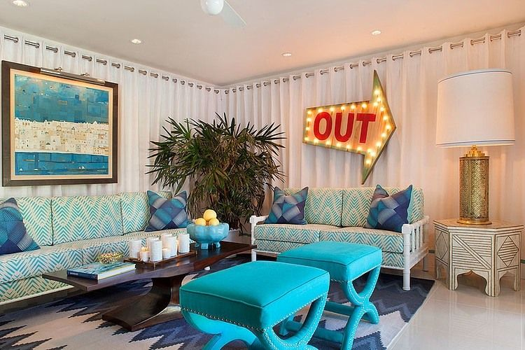 Colorful modern mix by joel dessaules design inspiring interior