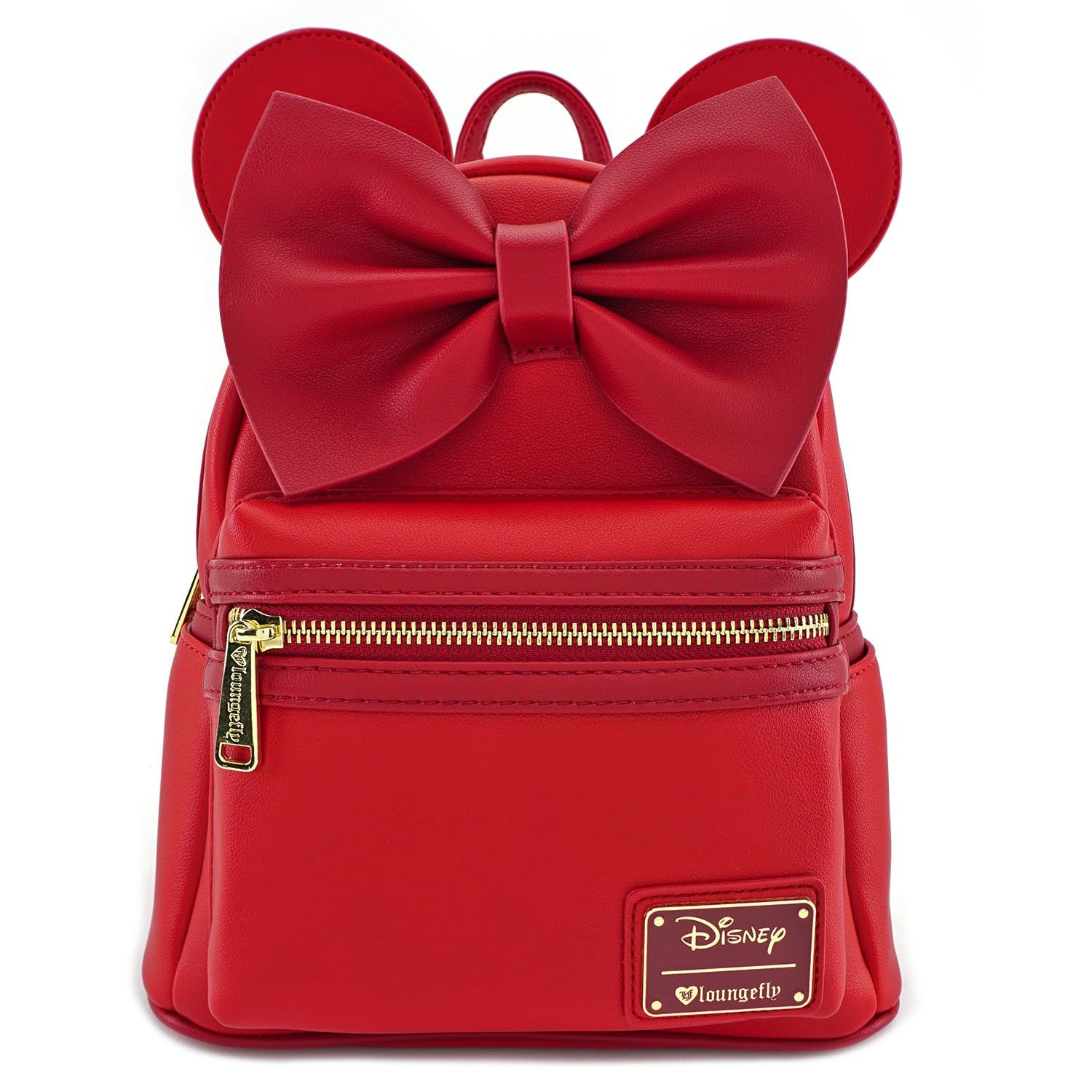 Licensed Leather Minnie Mouse Style Small 2-in-1 Cross-body bag// Mini Backpack
