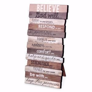 Believe 10 X 5 Mdf Wood Wall Plaque Christian Plaques