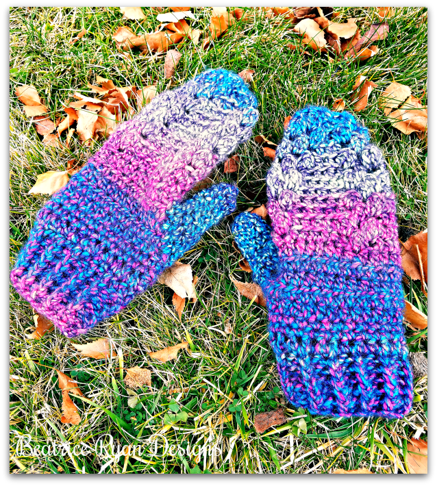 Mittens for Mommy… Free Crochet Pattern!!
