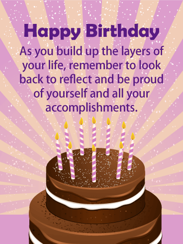 Be Proud Of Yourself Happy Birthday Card For Everyone A Life Well
