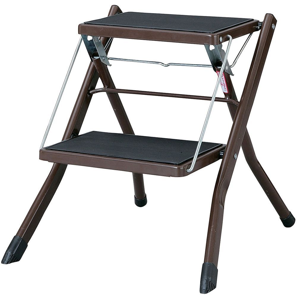 Fabulous Home Ladder Compact Folding Step Stool Brown Kitchen Office Inzonedesignstudio Interior Chair Design Inzonedesignstudiocom