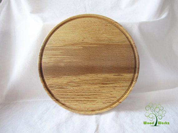 Round Wood Platter Large Round Platter Wood Serving by WoodWorkzBG & Round Wood Platter Large Round Platter Wood Serving by WoodWorkzBG ...