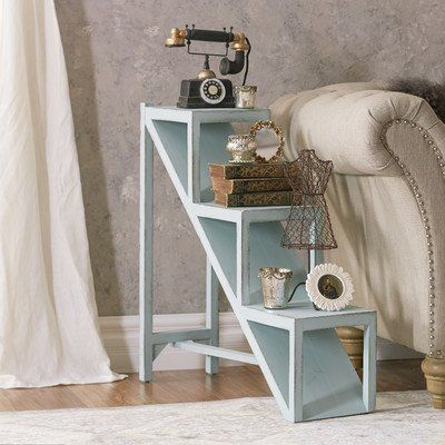 found it at wayfair stair step end table living room - Distressed Living Room 2016