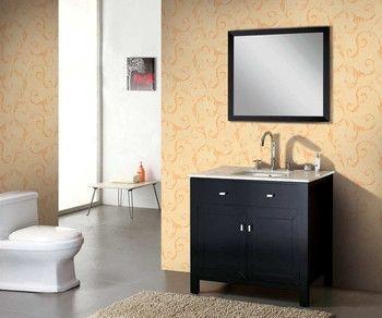 "35.5"" Solid Wood Bathroom Vanity Set - Dark Espresso (free shipping)"