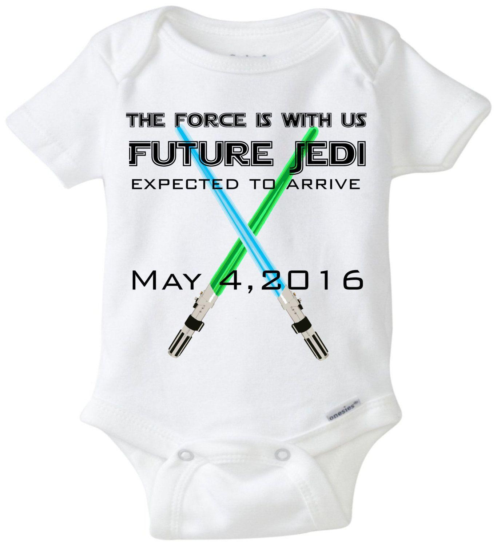 Future Jedi Pregnancy Announcement Baby esie Pregnancy Reveal to