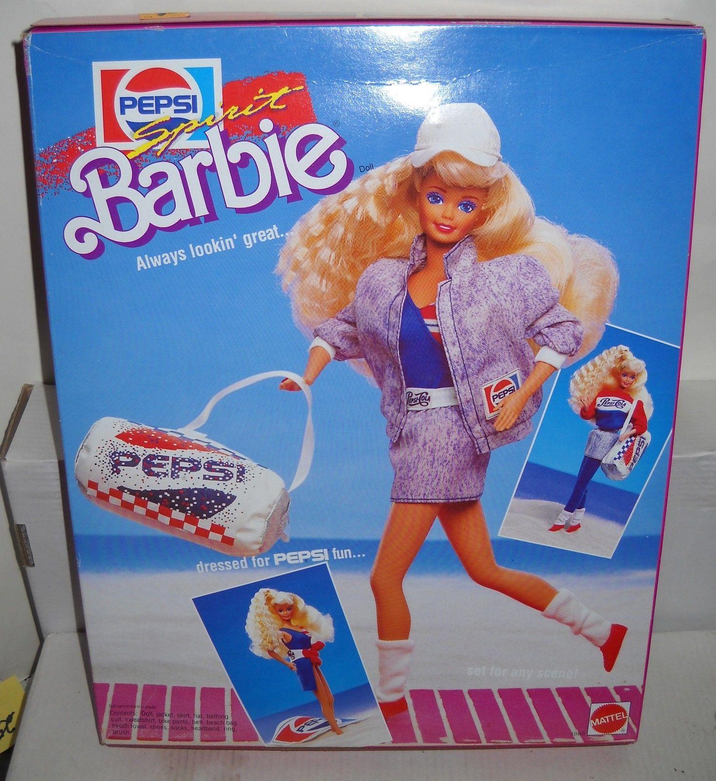 NRFB Mattel Toys R Us Pepsi Spirit Barbie in Barbie