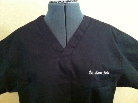 LOVE Dentistry (Tooth) - Embroidered Scrub Top / Embroidered Medical Srcubs  Tops