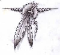 Indiańskie Piórka Na Tatuaz Drawings Native Tattoos