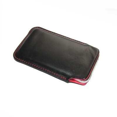 Edel Echtleder Etui schwarz rot f. Samsung Galaxy Young GT-S6310N