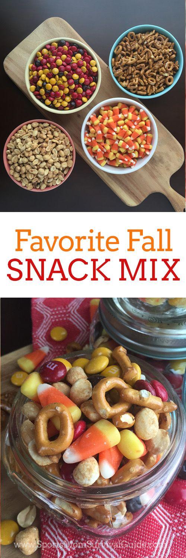 Fall Snack Mix Recipe Fall snack mixes, Fall snacks