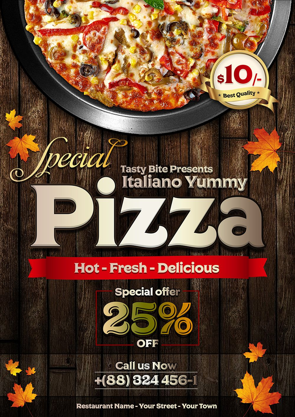 vintage pizza flyer template design psd 1 pizatemplet pinterest
