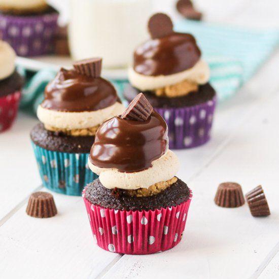 Peanut Butter Cup Cupcakes? Dream come true.