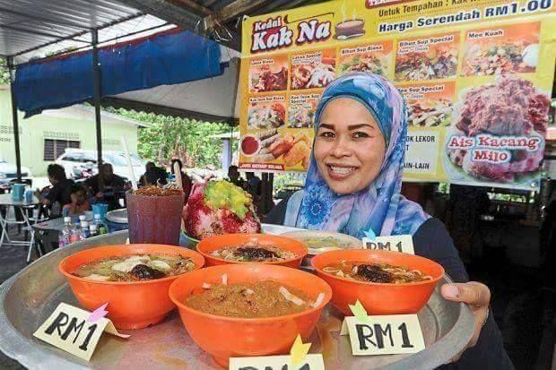 Di Kedai Kak Na Korang Boleh Makan Laksa Bihun Sup Mee Sup Koay Teow Abc Dengan Hanya Seringgit Sahaja Rasa Sedap Murah Berbaloi Makanan Laksa Kacang