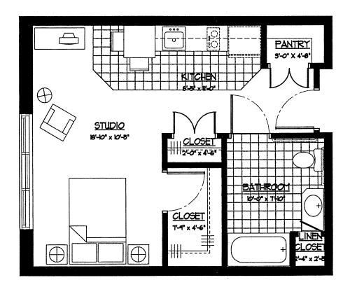 Hospital Kitchen Layout Plan: Gallery For > Assisted Living Facilities Floor Plans. One