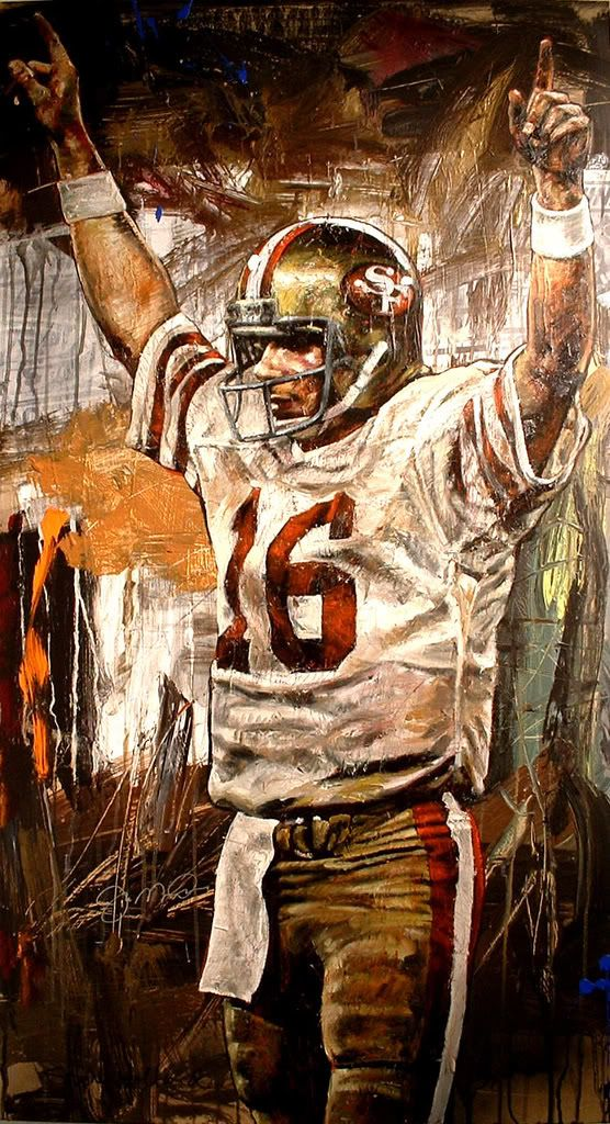 Joe Montana S Touchdown Sign San Francisco 49ers Football 49ers Football Nfl 49ers