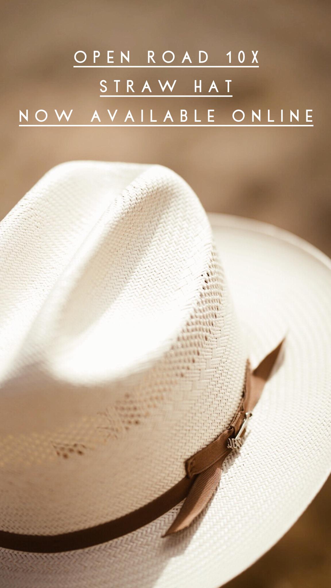 4592a8f6 Stetson Open Road 10X Straw Cowboy Hat BRIM: 2 3/4