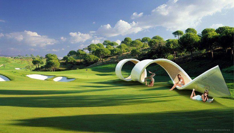 Ideia excelente do arquiteto Pedro Gonçalves, Portugal.  Design com diferentes formas de uso!