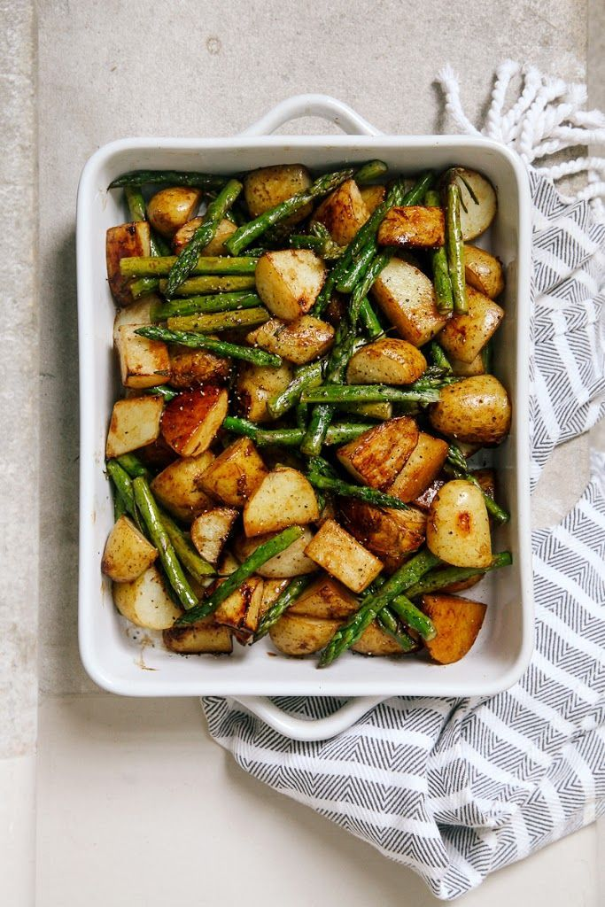 Balsamic Roasted New Potatoes with Asparagus Recipe | Yummly
