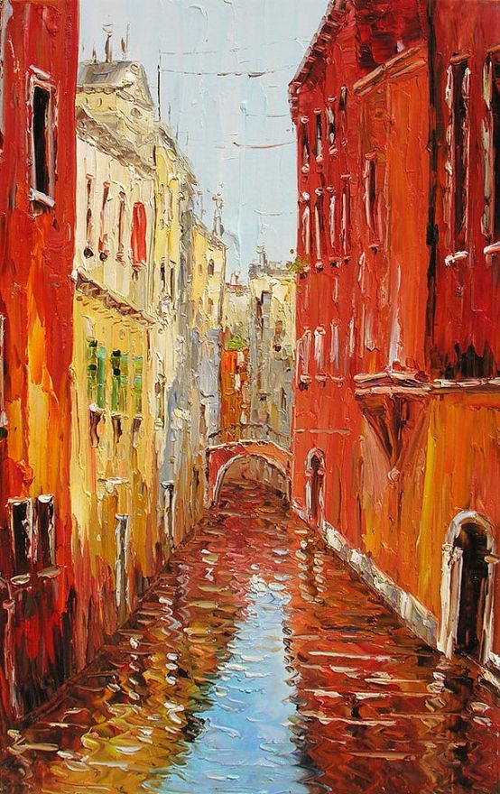 What A Place To Be Dessin Paysage Peinture Venise