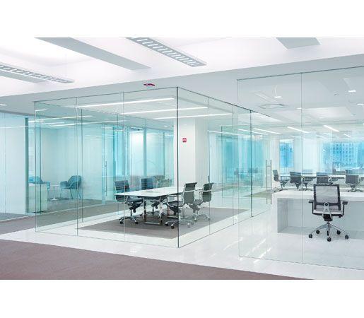 Office Sliding Glass Doors: DORMA PURE™ Frameless Glass Sliding Door System From DORMA