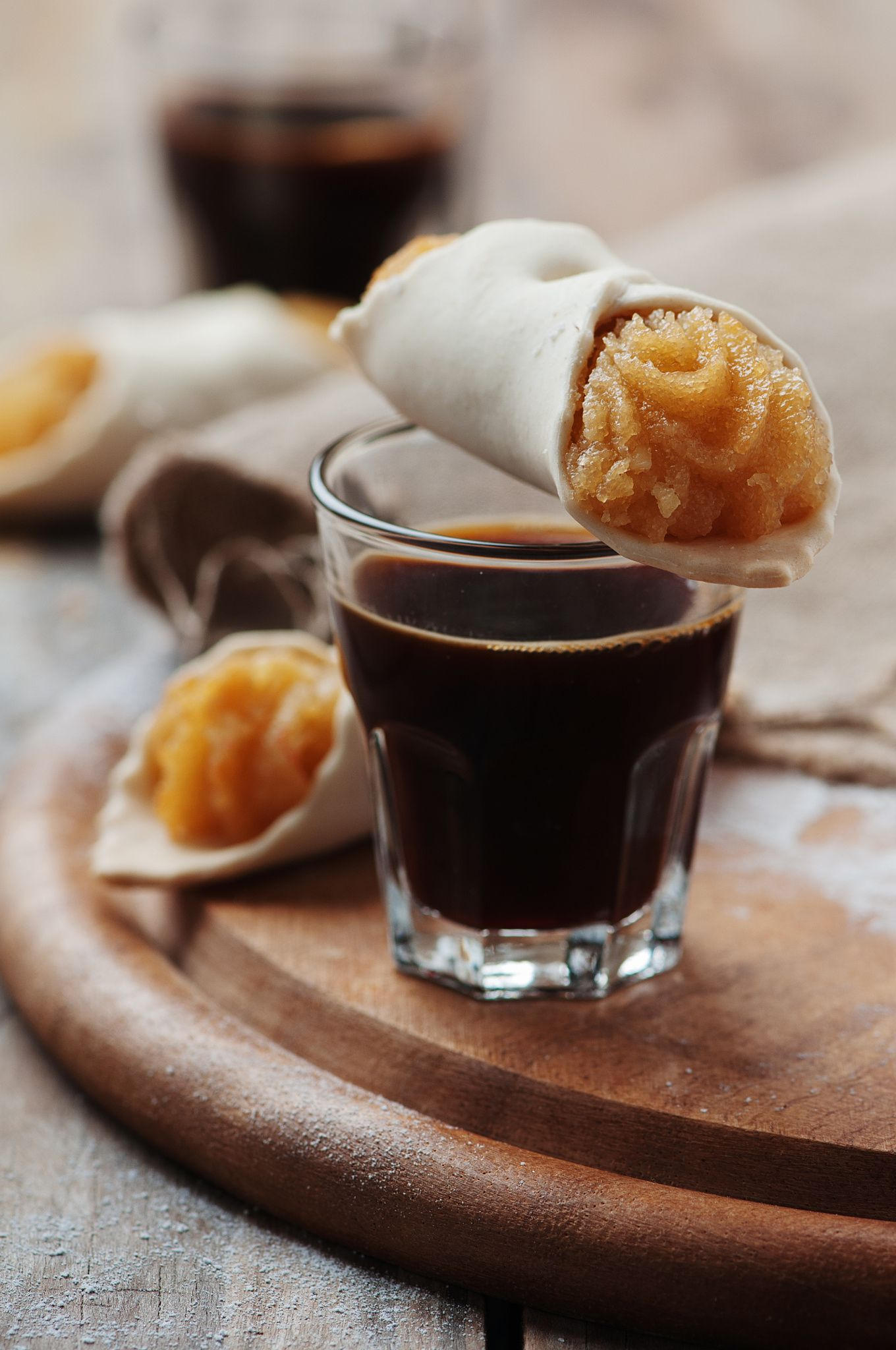 Traditional italian cookie with coffee by Oxana Denezhkina