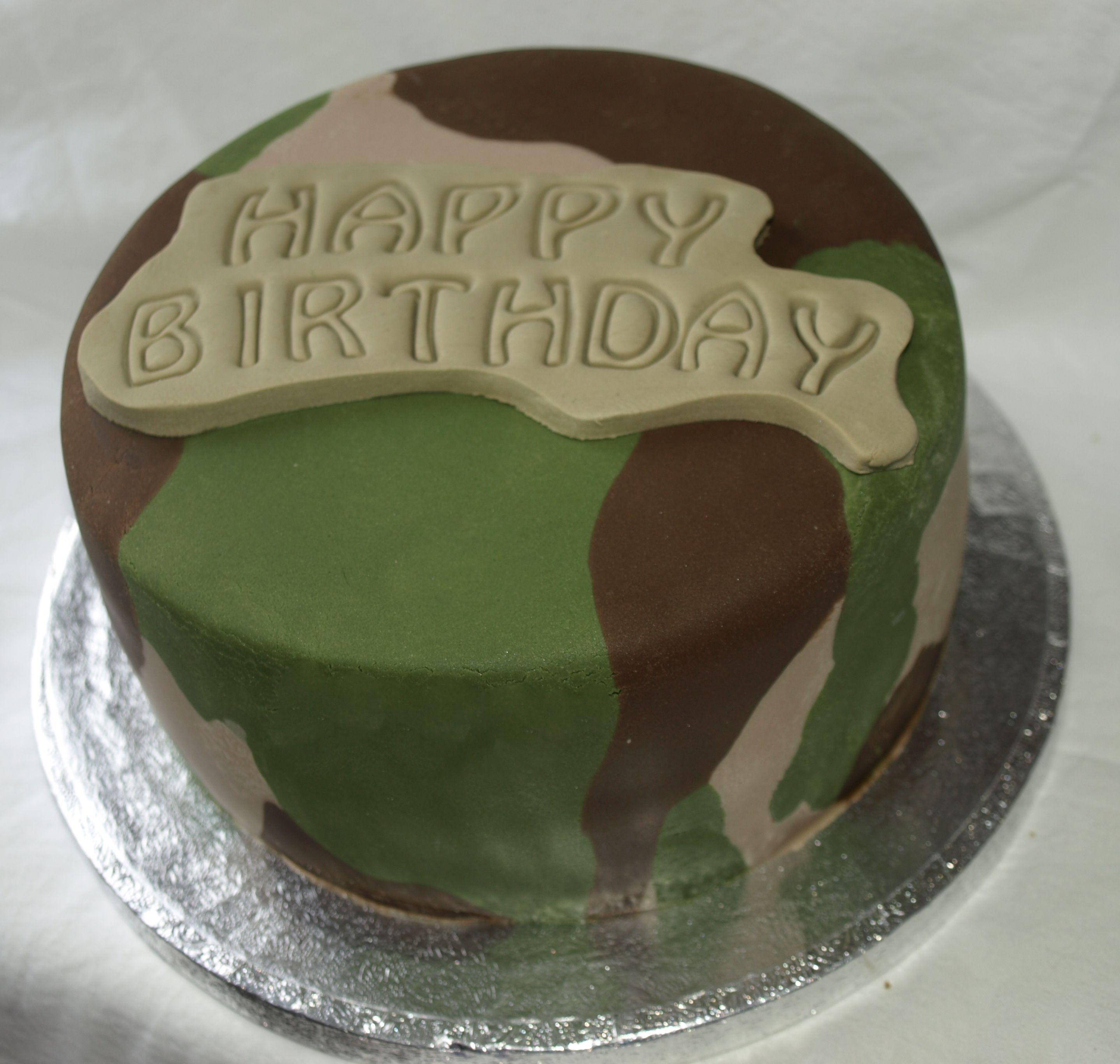 Camouflage Cake Cake Decorating Ideas Pinterest