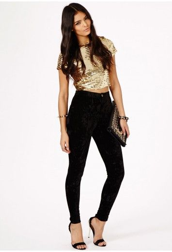 6da09b464e7 Akari Disco Ball Crop Top - Tops - Bralets and Crop Tops - Missguided The  whole outfit for New Years!