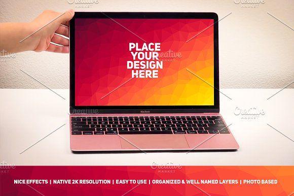 MacBook Display Mockup 67 Graphics **A B O U T**Easy to