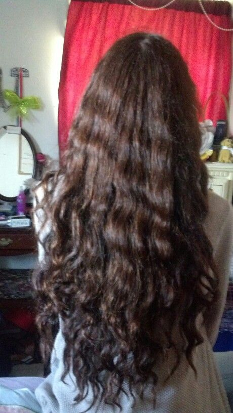 My Curly Hair After Being In A Braid While Its Wet Curly
