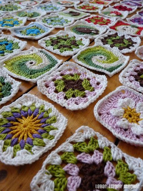 LEBEN LIEBEN MACHEN | Granny square | Pinterest | Leben und Häkeln