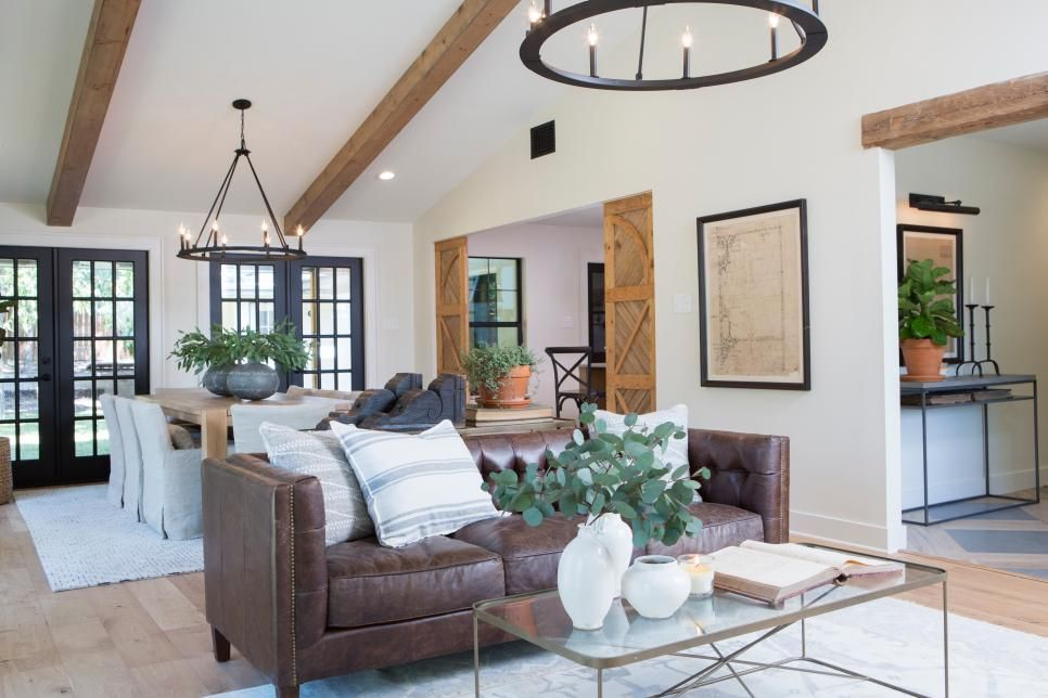 Ranch Home Remodel Annie Selke Ranch House Makeover Home Redesign Headers U0026 Beams -- Ranch House To Modern Mediterranean Retreat | Fixer  Upper | Hgtv
