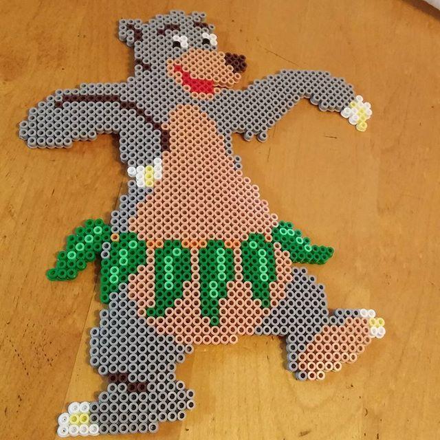 Baloo - The Jungle Book perler beads by bakingqu33n