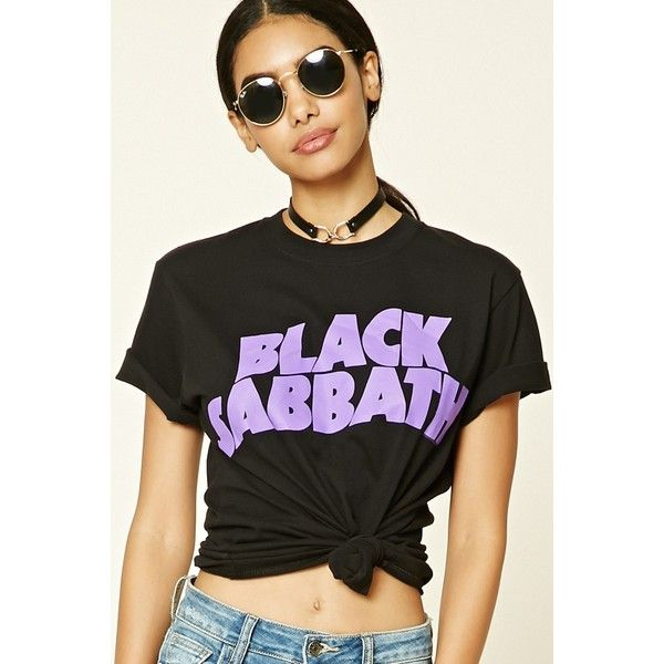 21ce37efae0 Forever21 Black Sabbath Graphic Band Tee ($16) ❤ liked on Polyvore  featuring tops, t-shirts, short sleeve graphic tees, forever 21 tee,  graphic tops, ...