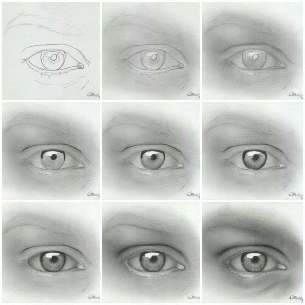How To Draw Realistic Eyes Step By Step Drawing Painting Art How
