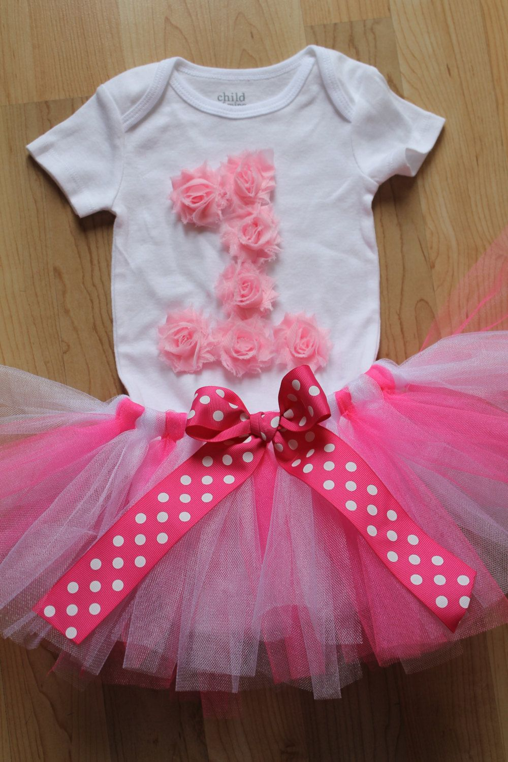 First+Birthday+Tutu+Outfit+Pink+Rosette+by+SweetCarolineCrafts,+$41.99