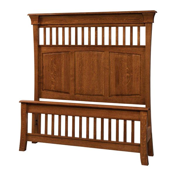 OFF Amish Furniture   Hand Crafted Shaker And Mission Furniture Online  Outlet Store: Banbury Panel Bed: Oak
