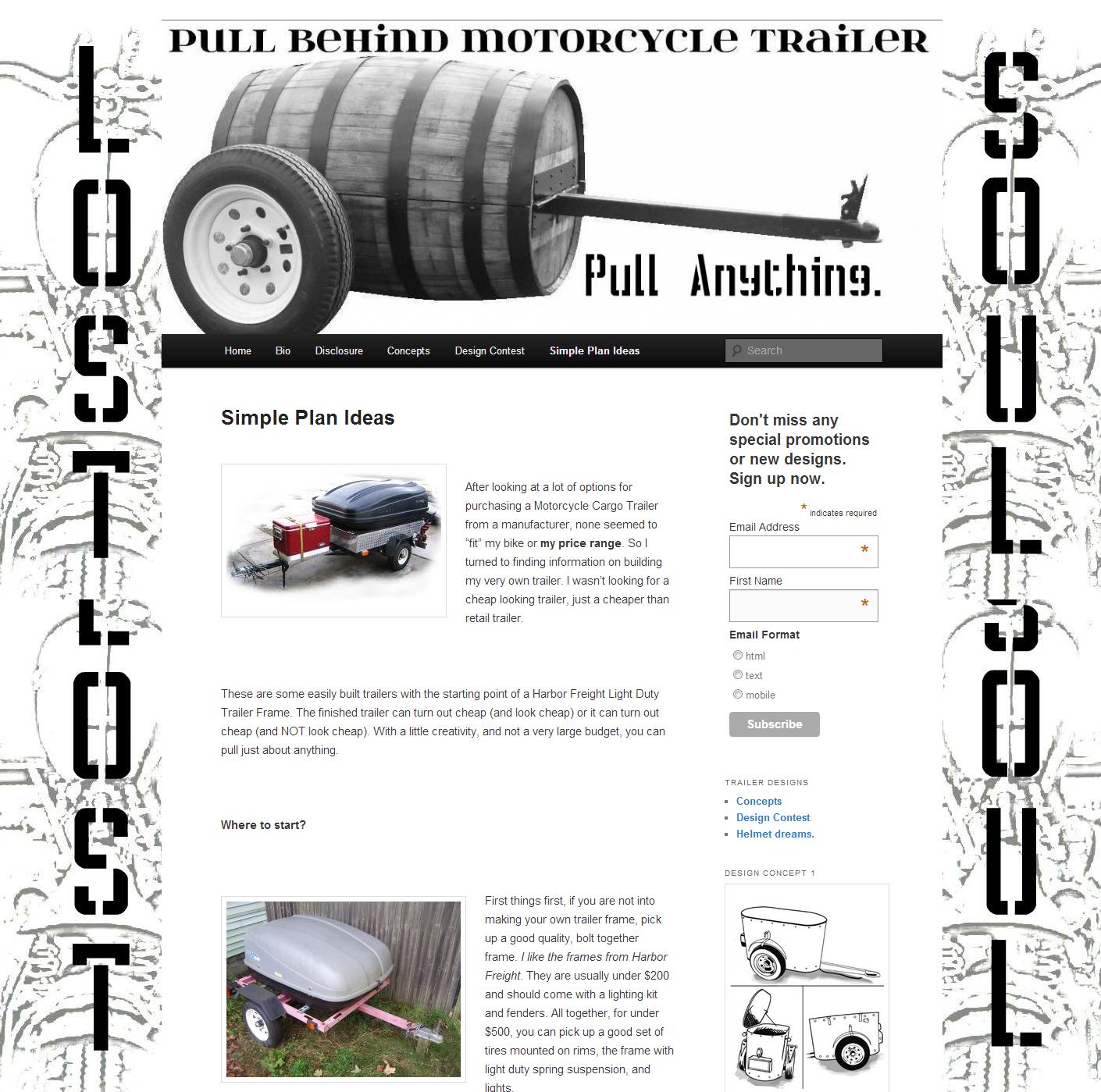 Get Lost Trailers LLC, Pull Behind Motorcycle Trailers, Simple Plan ...