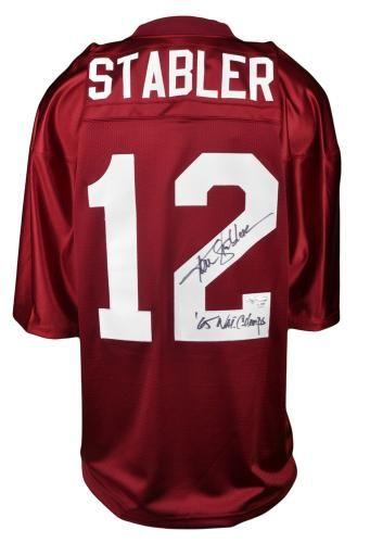 innovative design 8d8d3 3bb2c Ken Stabler Signed Jersey with 65 Natl Champs Inscription ...