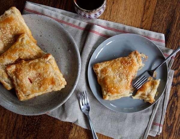 Tomato and Cream Cheese Turnovers - Emily Vikre