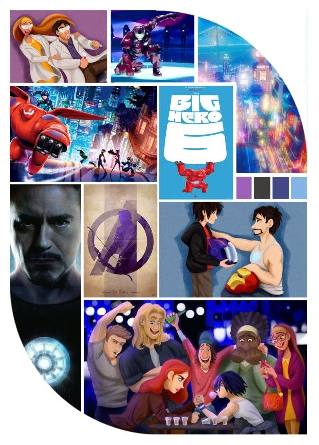 """""""Hiro meets the Avengers"""" by laniocracy ❤ liked on Polyvore featuring art"""