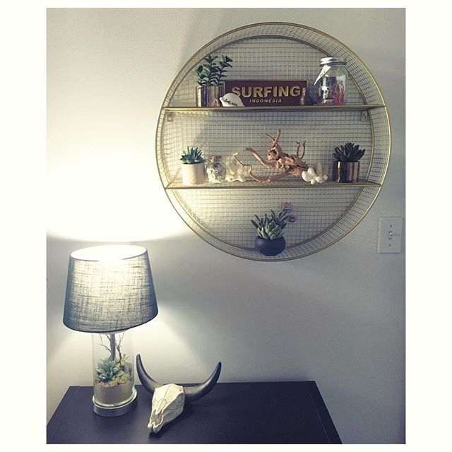 Metal Circle Shelf Gold Pillowfort In 2020 Circle Shelf Shelf Decor Living Room Wall Shelf Decor
