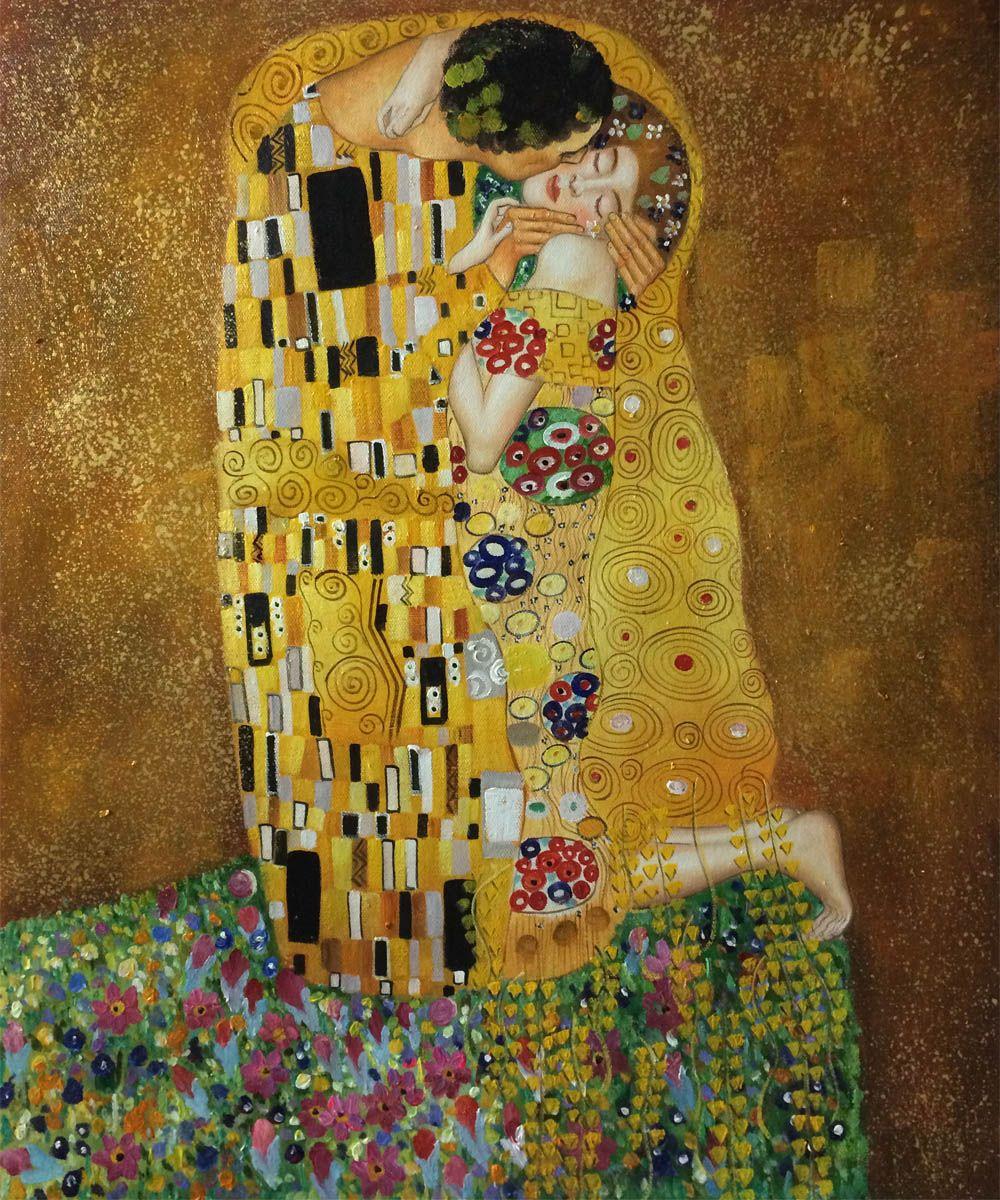 Gustav Klimt, The Kiss - Hand Painted Oil Painting - Gustav Klimt