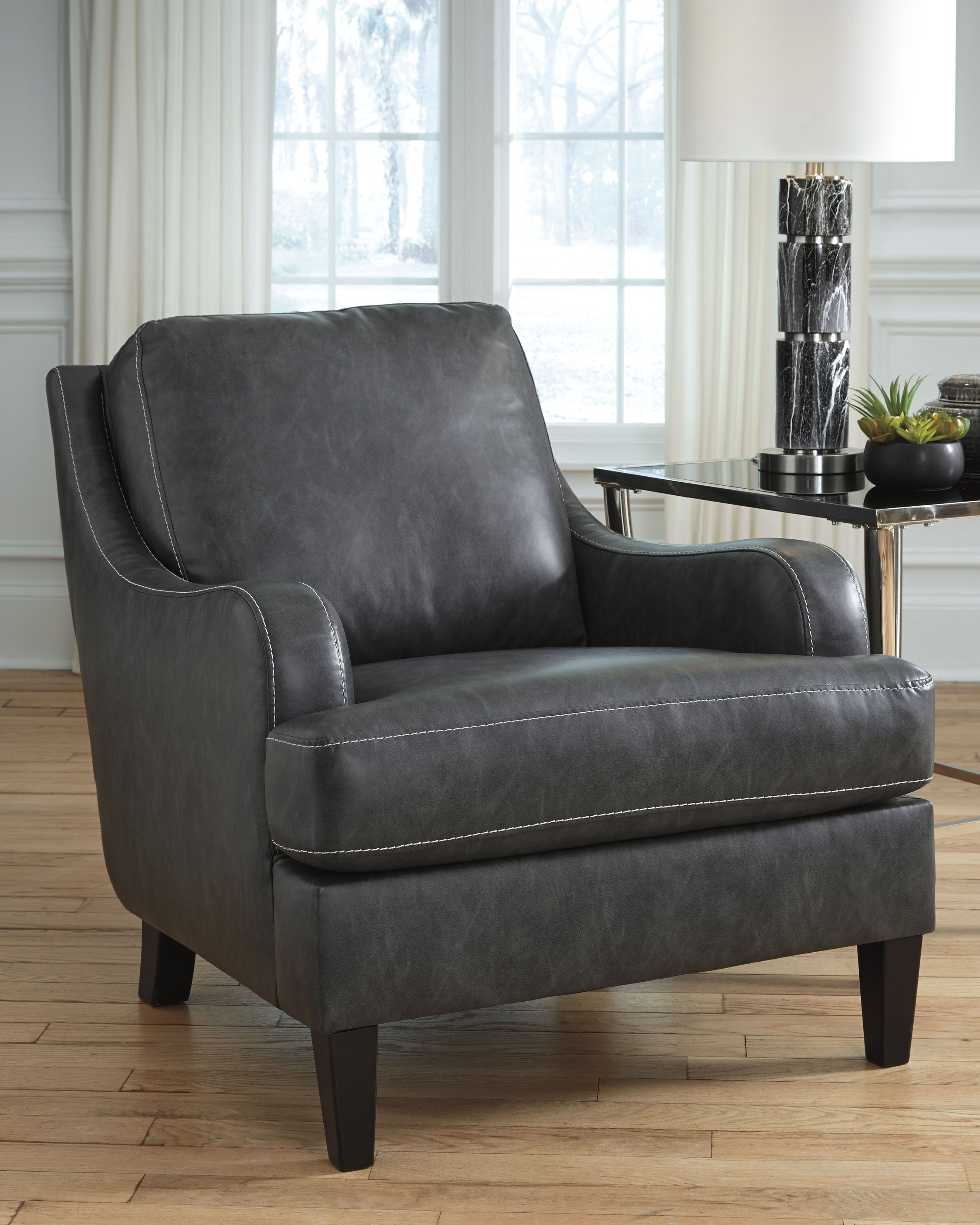 Tirolo Accent Chair Dark Gray Products In 2019 Pinterest