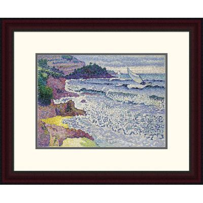 "Global Gallery 'La Mer Clapotante' by Henri Edmond Cross Framed Painting Print Size: 19.52"" H x 24"" W x 1.5"" D"