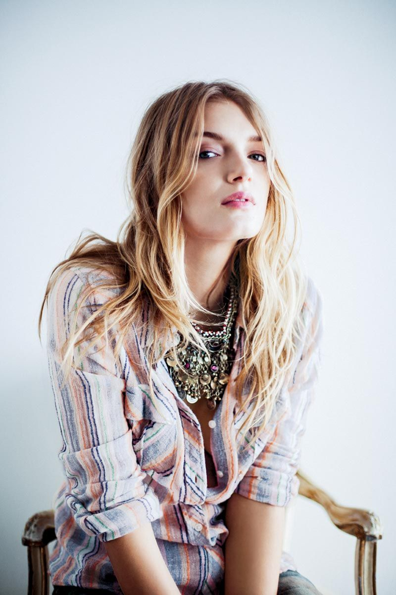 Lily Donaldson Poses for Free Peoples December Catalogue