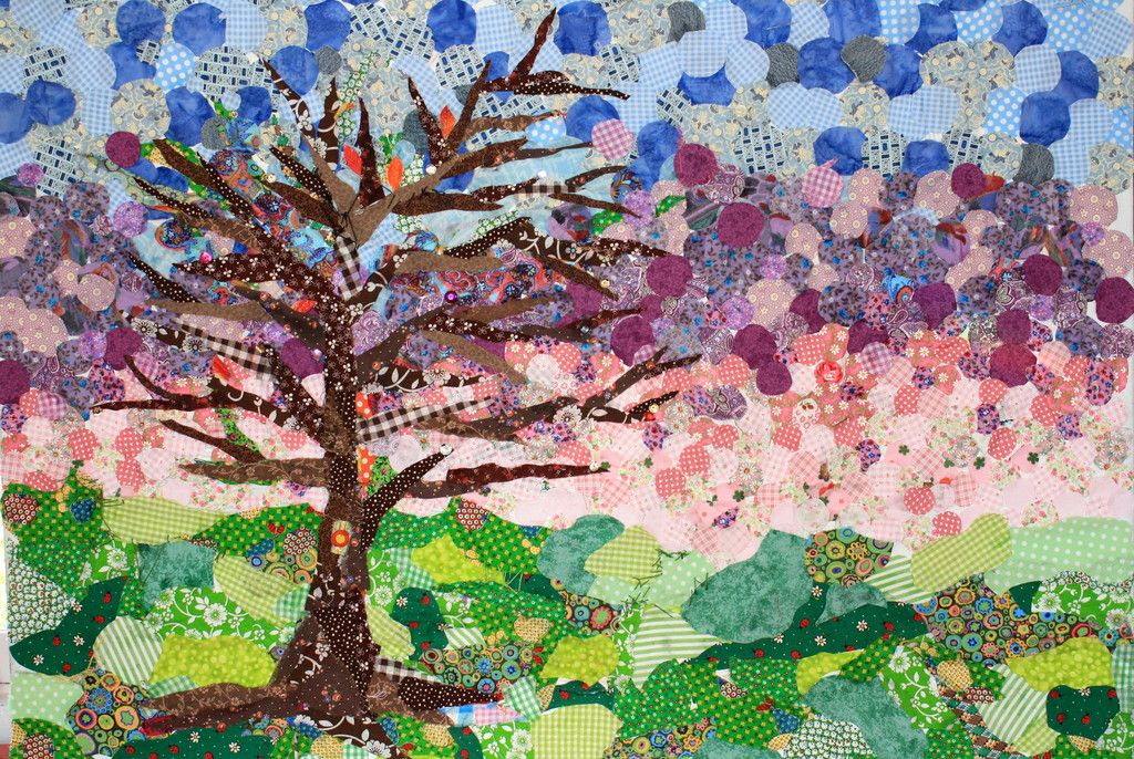 Patchwork Tree at Dawn