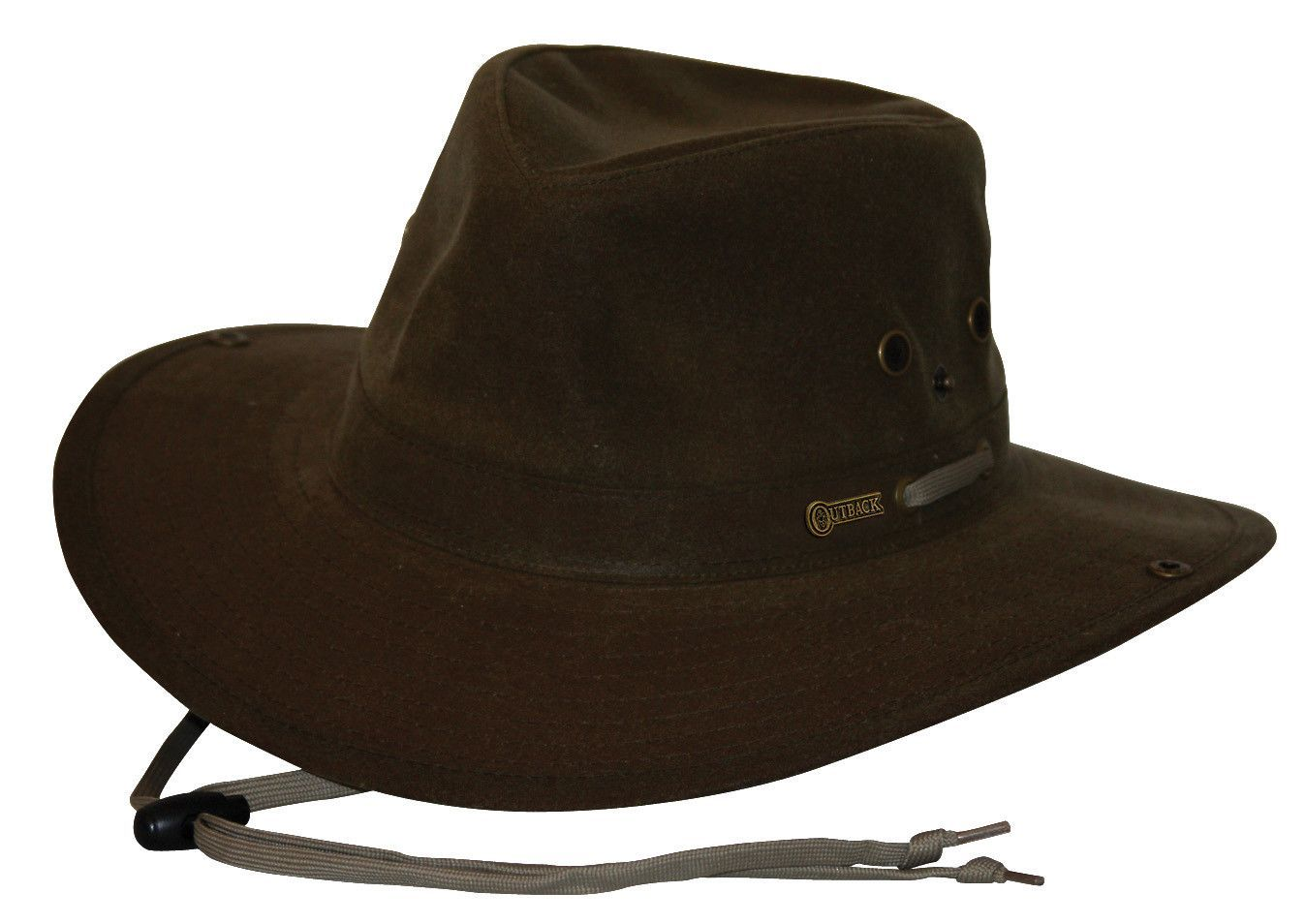 Outback Trading Co. Oilskin River Guide Mens Hat Brown 100% Cotton ... 356ff8ef487